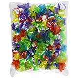 Rhode Island Novelty 144 Plastic Glitter Rings (Assorted Colors and Designs)