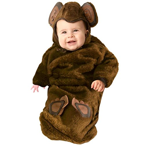 Baby Monkey Costume- Plush Fur (0-6 Months)