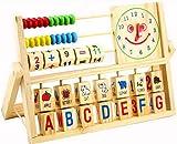 Baby-frühe Ausbildungs Learning Holzuhr Alphabet Abacus Spielzeug hergestellt von AHA CO.,LTD