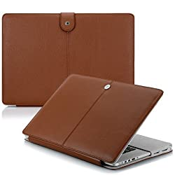 CaseCrown Elite Folio Book Cover Case (Brown) for 15 Inch MacBook Pro with Retina Display
