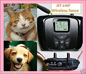 Wireless Dog/Cat Complete Fence System, 55yds radius coverage, w/ Water-proof and submersible rechargeable Collar