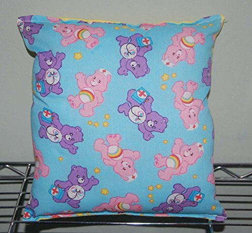 """Care Bear Pillow Medical Care-bear Pillow HANDMADE In USA Pillow is approximately 10"""" X 11"""""""