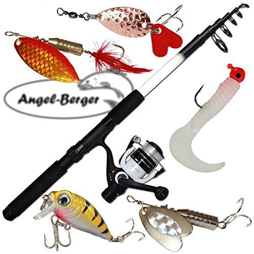 Angel-Berger-Spinset-komplett-Angelset-Raubfisch-mit-Kunstkdersortiment