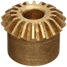 Boston Gear G Series Miter Gear, 1:1 Ratio, 20 Degree Pressure Angle, Straight Miter, Plain Bore, Brass