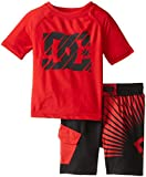 DC Shoes Co Baby Boys' Red Rashguard Wieh Microfiber Shorts