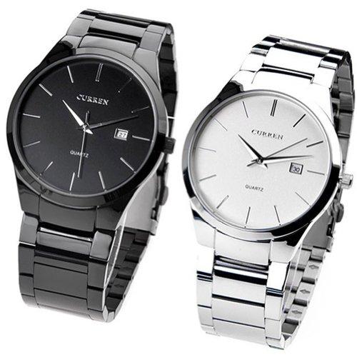 OrrOrr-CURREN-8106-Herren-Jungen-Wolfram-Stahl-Analog-Quarz-Armbanduhr-White
