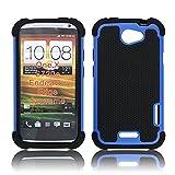 Bracevor Triple Layer Defender Back case for HTC One X (Blue)