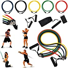 Insten 11-piece set Exercise Fitness Resistance Workout Bands