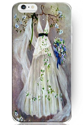 Sprawl Love Melody Design Hard Plastic Case Cover For Iphone 6 Plus (5.5'') -- Wedding Dress Painting