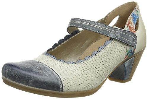 Remonte Dorndorfd1207 - Scarpe con Tacco Donna , Multicolore (Mehrfarbig (royal/weiss/royal/ice/blau-multi / 80)), 38