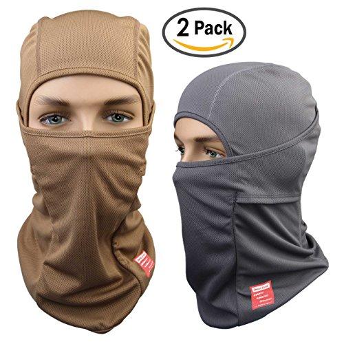 dc7e2808d3e Dimples Excel Face Mask Sports Balaclava (2 Pack) (Grey + Desert ...