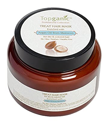 Topganic Treatment Hair Mask with Argan Oil, 16.9 Ounce