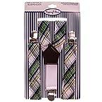 Plaid Suspender Set