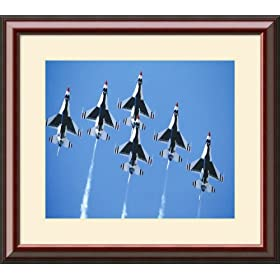 F-16 Thunderbirds in Delta Formation Framed Art Print