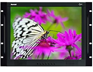 Marshall Electronics M-LYNX-15-RM 15-Inch Rack Mount A/V Monitor with BNC Loop-Through (Black)