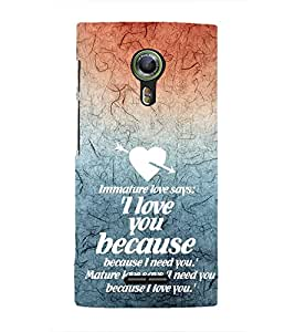 EPICCASE Immature Love Mobile Back Case Cover For Alcatel One Touch Flash 2 (Designer Case)