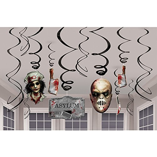 Haunted Asylum Swirl Decorations 12 Pack