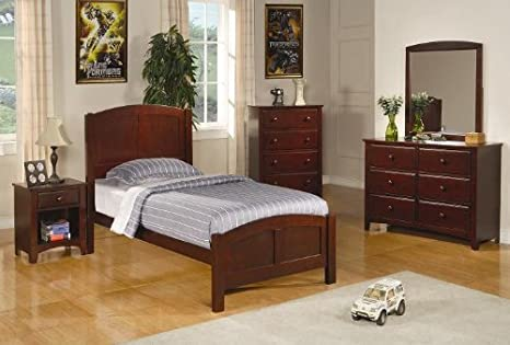 Inland Empire Furniture Bellingham I Rich Cappuccino Solid Wood Platform Bed with Bed Set