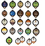 25 Count – Coffee, Tea, Hot Cocoa, Apple Cider, Latte and Cappuccino Variety Sampler Vue Cup for Keurig Vue Brewers – from Green Mountain, Caribou, Cafe Escape, Tully's, Barista Prima etc