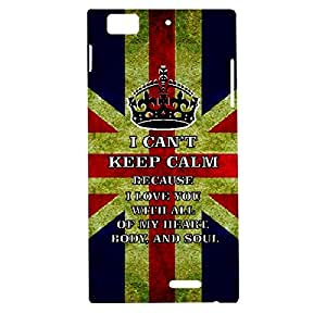 Skin4gadgets I CAN'T KEEP CALM BECAUSE I love you with all of my heart, body, and soul - Colour - UK Flag Phone Designer CASE for LENOVO K900