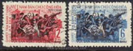 Vietnam Stamps - 1965, Sc 366-7 August Revolution, 20th Anniv. - CTO, F-VF