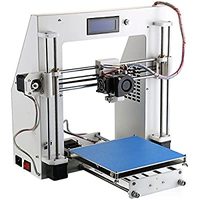 HOPCENTURY Reprap Prusa I3 3D Printer 3D Print DIY KIT Exclusive Injection Molded Support PLA/ABS Filaments (Filament is NOT included)