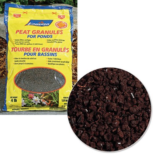 Laguna Ponds Peat Granule With Mesh Bag, 4-Pound Outdoor, Home, Garden, Supply, Maintenance