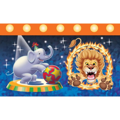 ShindigZ Big Top Circus Birthday Tablecover