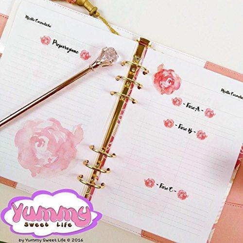 a5-refill-handmade-per-agende-planner-ricette-cosmetici-fatti-in-casa-rose