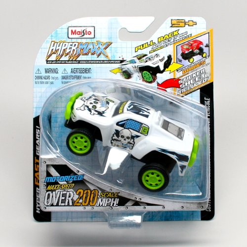 Coyote XS (White) * Hyper-Maxx High-Torque Pull-Back Motorized Vehicle * 2013 Maisto Hyper Fast Lightweight Vehicle - 1