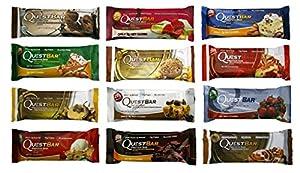 Quest Nutrition Bar Variety Bundle, 12 piece (1 of Each)