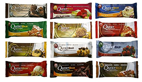 Quest Nutrition Bar Variety Bundle, 12 piece (1 of Each) (Quest Bar One compare prices)