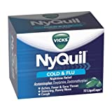 Vicks Nyquil Cold and Flu Relief LiquiCaps, 72 Count