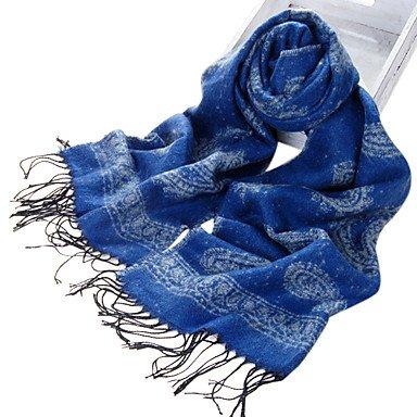 National Style Acrylfaser Royalblue warme Winter Schal mit Quasten online bestellen