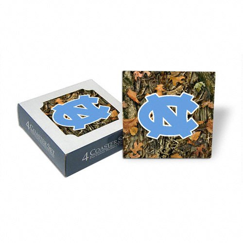 North Carolina Tar Heels Set of 4 Camouflage Coasters