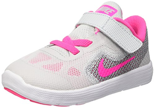 Nike Revolution 3 (Tdv) Scarpe Walking Baby, Bambina, Multicolore (Pr Pltnm/Pnk Blst-Wlf Gry-Wht), 25