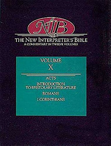 The New Interpreter's Bible : Acts - First Corinthians (Volume 10)