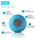 Wireless Speaker, Bluetooth Speaker, Laeker Waterproof Wireless Hand-free Shower Speaker Compatible with All Bluetooth Devices for Showers, Bathroom, Pool, Boat, Car, Beach, & Outdoor Use (blue)