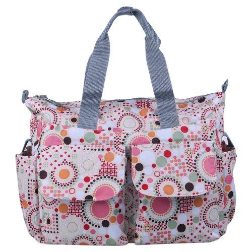 Ecosusi Polka Dot Deluxe Designer Diaper Tote Bag (Pink)