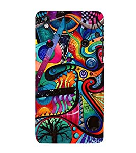 ABSTRACT COMBINATION OF MULTIPLE PATTERNS 3D Hard Polycarbonate Designer Back Case Cover for HTC Desire 816::HTC Desire 816 G