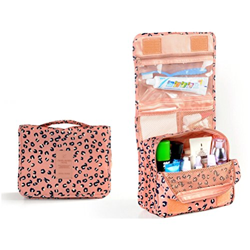 PIXNOR Portatile impermeabile appeso Wash Bag Toiletry Bag Travel trousse sacchetto organizzatore