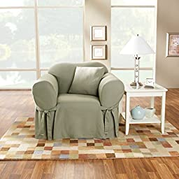 Sure Fit Cotton Duck - Chair Slipcover  - Sage (SF33050)