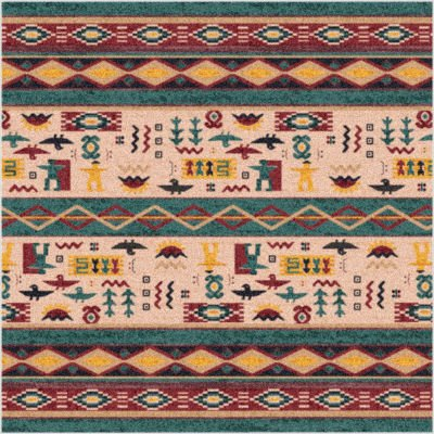 "Stainmaster® Wide Ruins Southwestern Rug - Hazy Forest (7'7"" Square)"