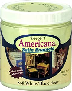 DecoArt DSA02-36 Americana Satin Enamels, 8-Ounce, Soft White