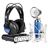 Neewer Professional Microphone kit for Youtube, Karaoke,Personal Recording or more,includes:(1)Sound Card+(1)Microphone+(1)High Quality Headphone+(1)USB Cable+(1)Microphone Cable.