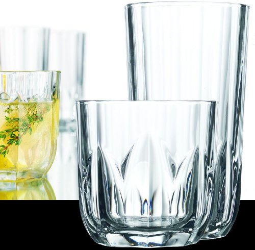 16-piece Elegant Glassware Set - 8 Cooler Glasses