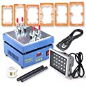 Keedox® Screen Repair Machine, LCD Touch Screen Front Glass Separator Refurbishment Tool for for Iphone Samsung Galaxy HTC Screen Repairing, with UV Glue LOCA Alignment 6pcs Led Uv Lamp Mould Holders and 20W Fast Curing UV Light Ultraviolet Lamp