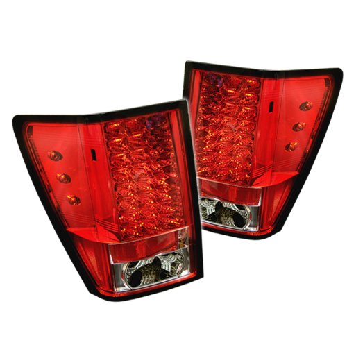 Spyder Auto Jeep Grand Cherokee Red Clear Led Tail Light