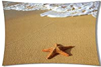 Decemberloo Sea Pillowcase Cotton Throw Pillow Covers With Starfish from Tie Dye Pattern Pillow Case