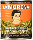 La Morena Jalapeno Peppers, Sliced, 27.7 Ounce (Pack of 12)